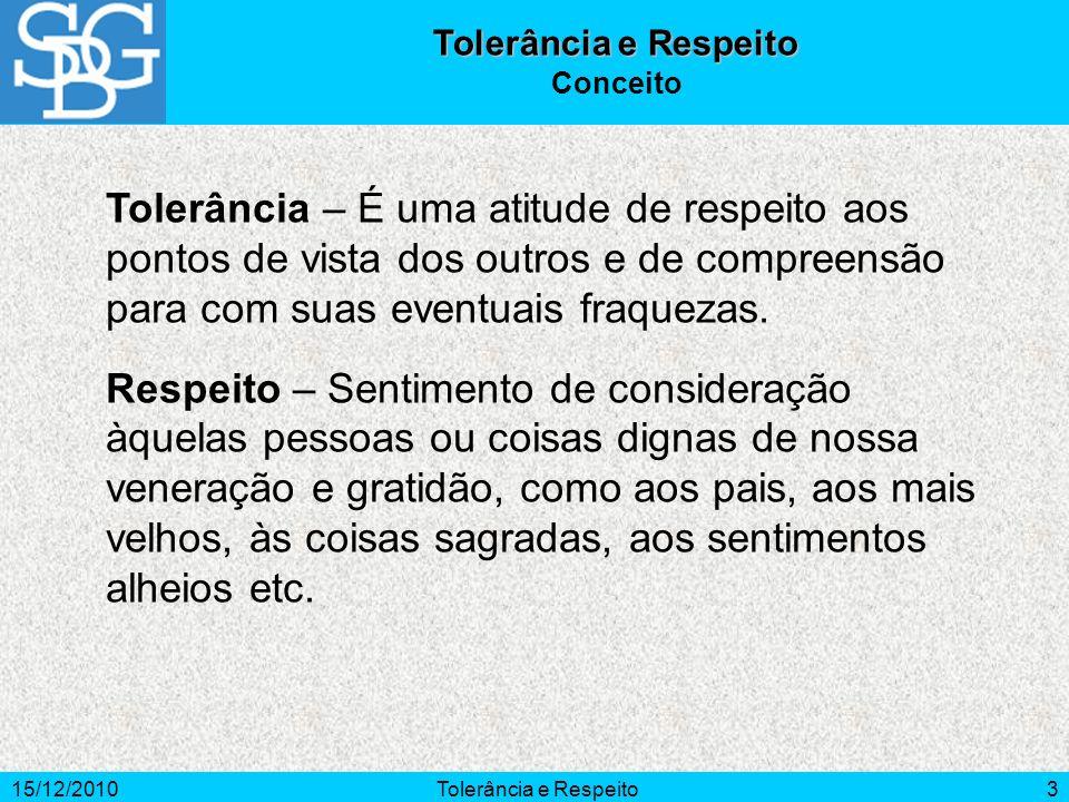Tolerância e Respeito Conceito.