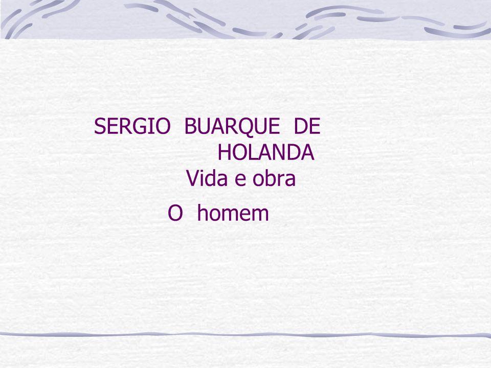 SERGIO BUARQUE DE HOLANDA Vida e obra O homem
