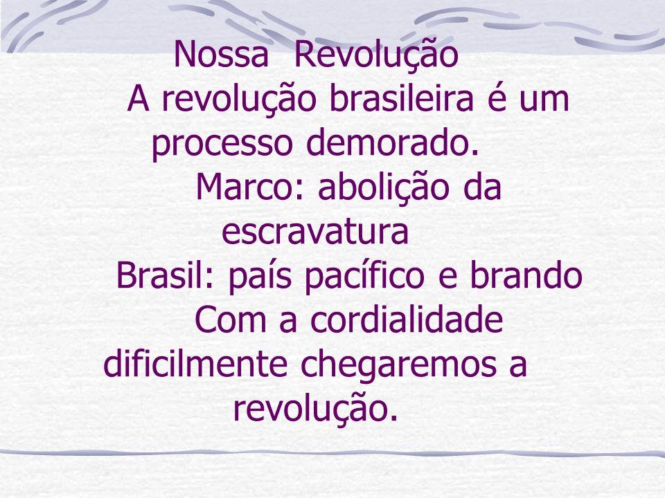 Nossa Revolução. A revolução brasileira é um processo demorado