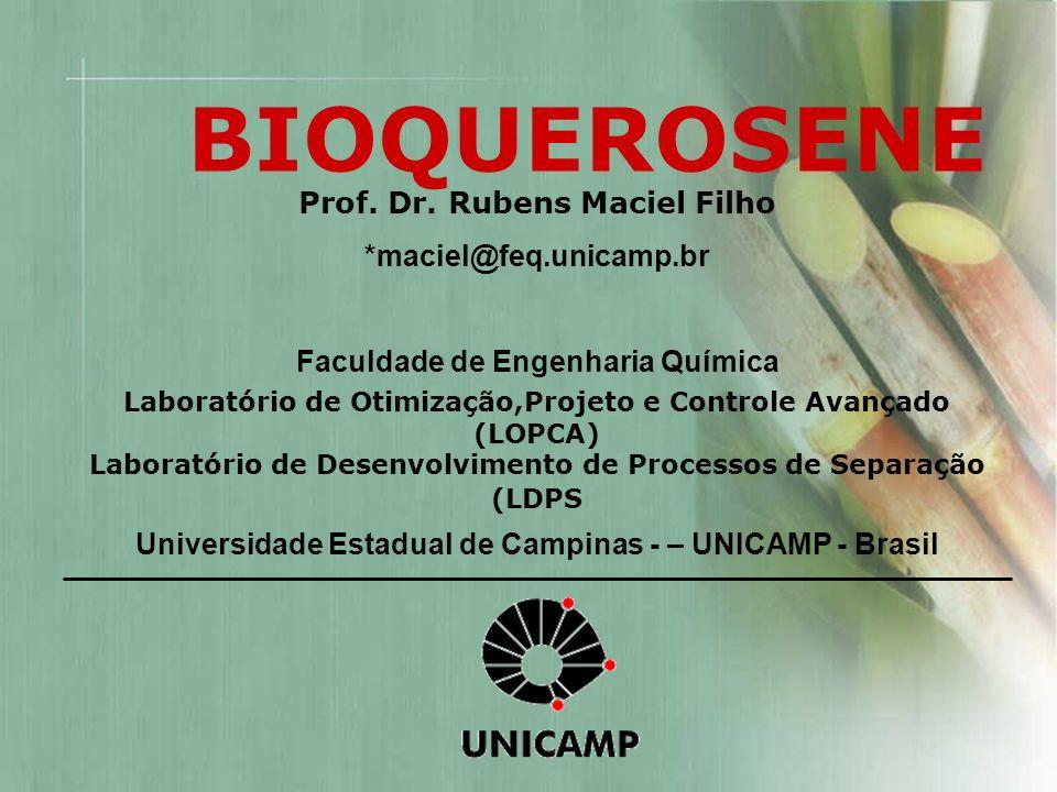 BIOQUEROSENE Prof. Dr. Rubens Maciel Filho *maciel@feq.unicamp.br