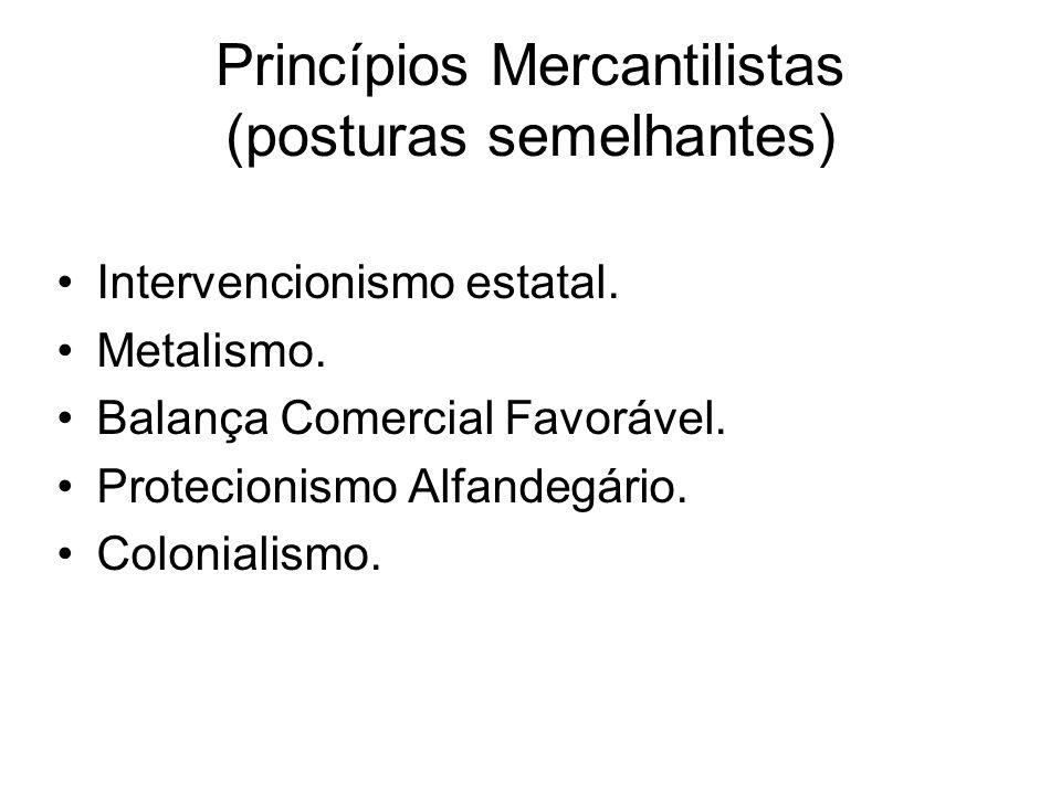 Princípios Mercantilistas (posturas semelhantes)