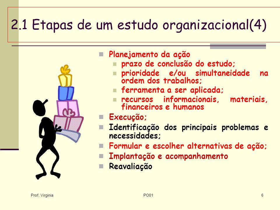 2.1 Etapas de um estudo organizacional(4)