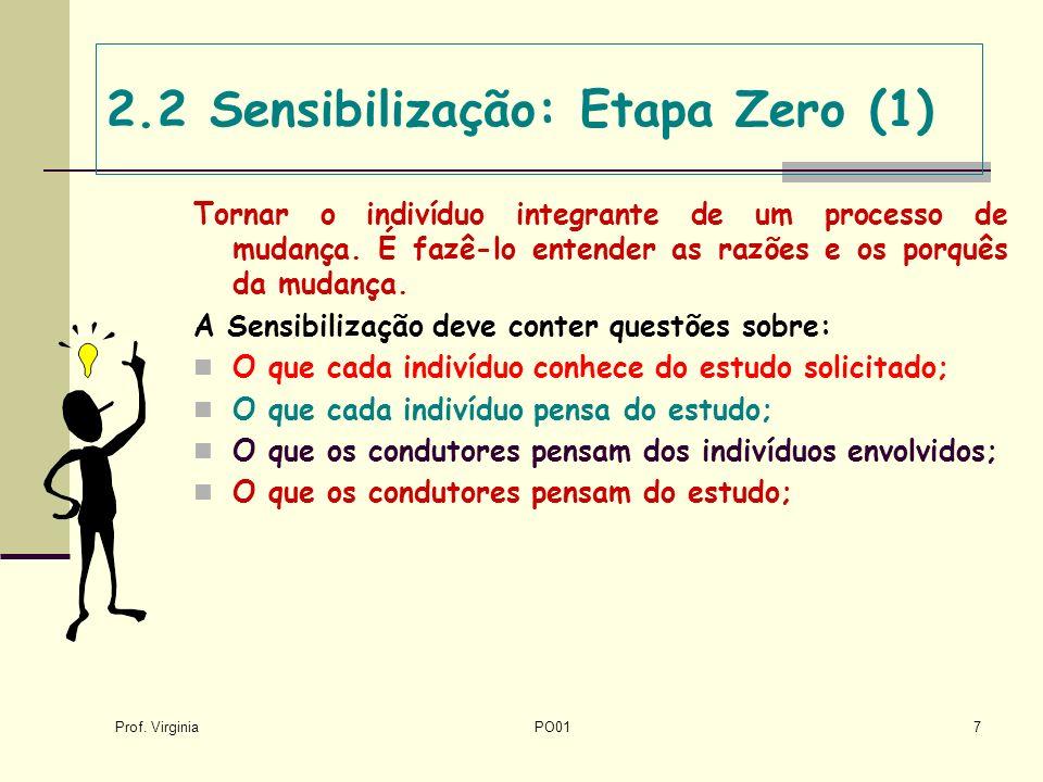 2.2 Sensibilização: Etapa Zero (1)