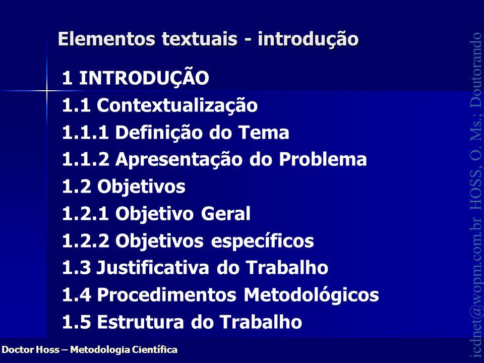 Elementos textuais - introdução