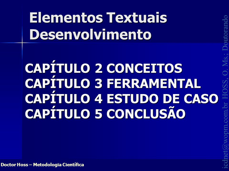 Elementos Textuais Desenvolvimento