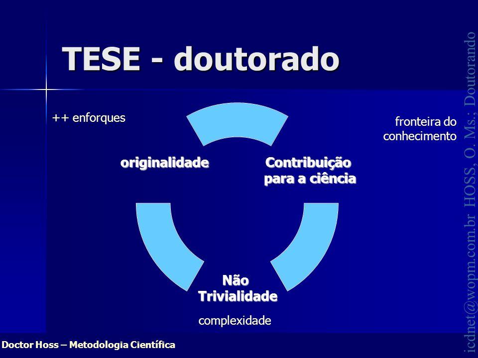 TESE - doutorado ++ enforques fronteira do conhecimento complexidade