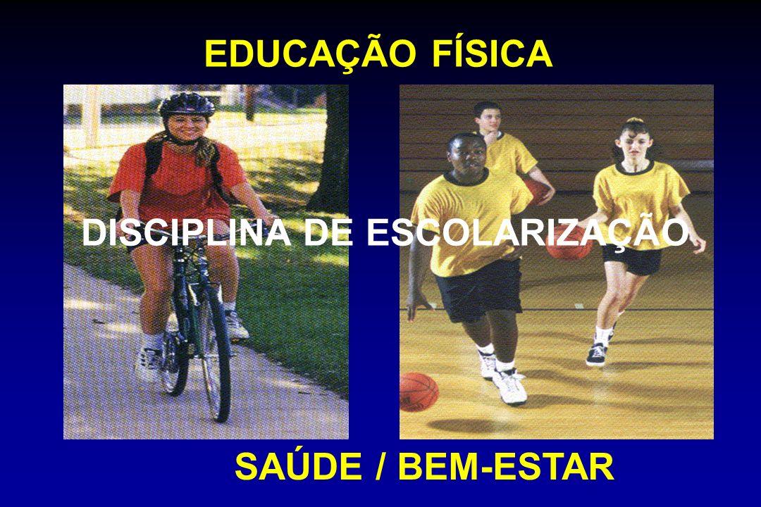 EDUCAÇÃO FÍSICA DISCIPLINA DE ESCOLARIZAÇÃO SAÚDE / BEM-ESTAR
