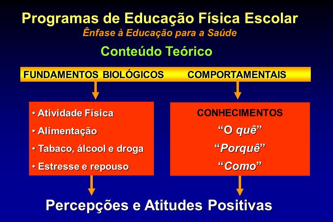 Programas de Educação Física Escolar Percepções e Atitudes Positivas