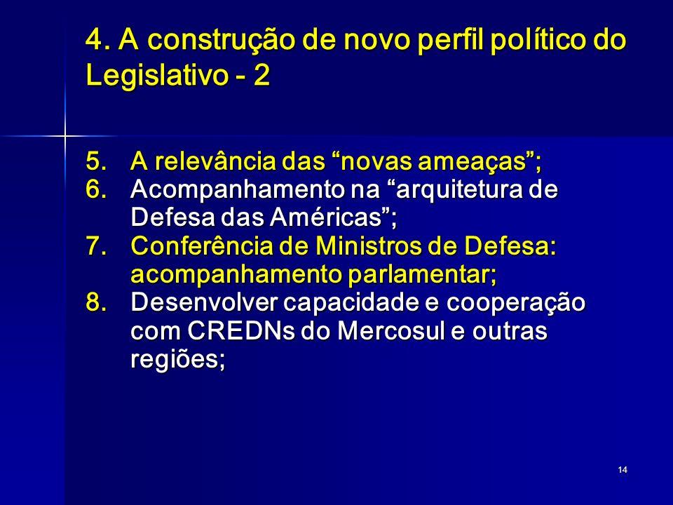 4. A construção de novo perfil político do Legislativo - 2