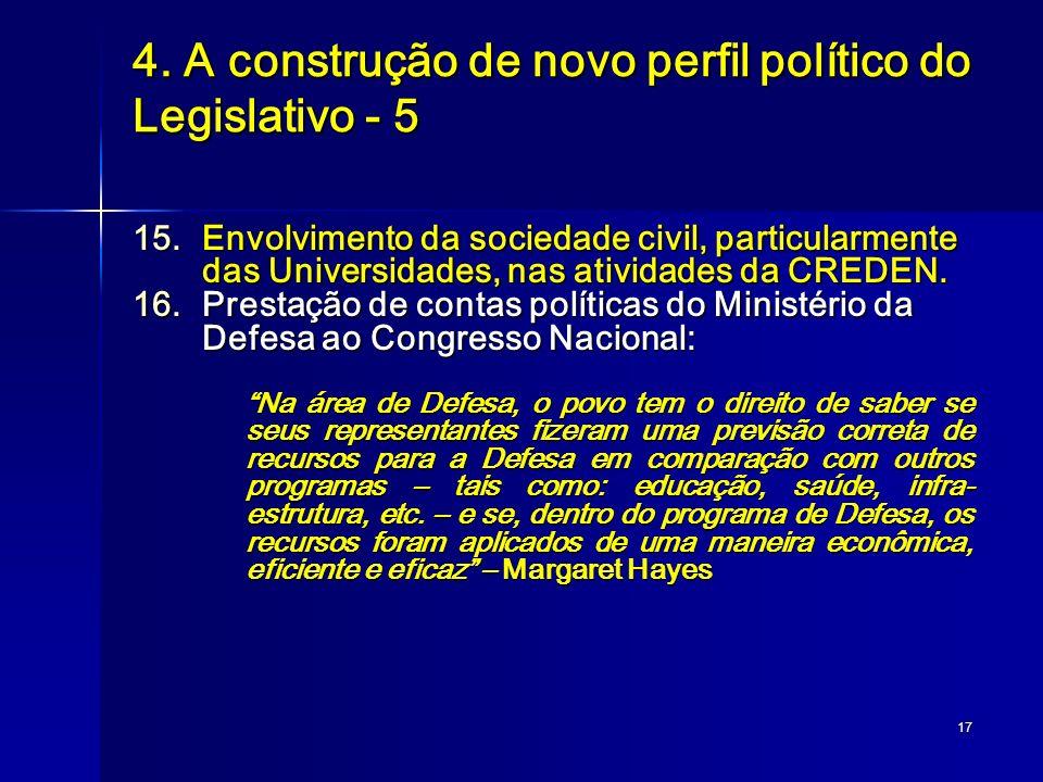 4. A construção de novo perfil político do Legislativo - 5