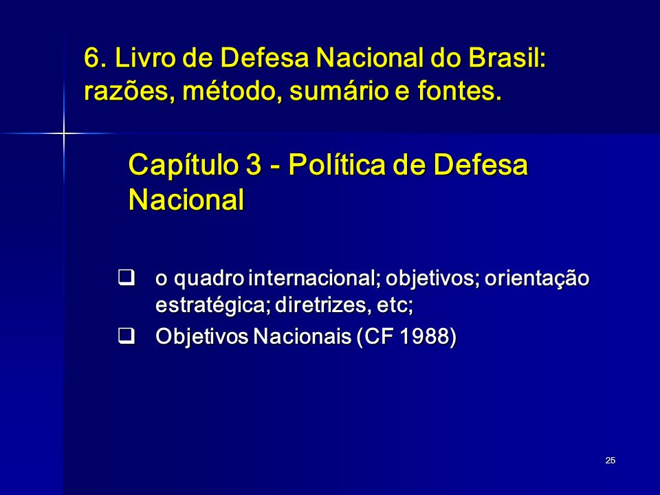 Capítulo 3 - Política de Defesa Nacional