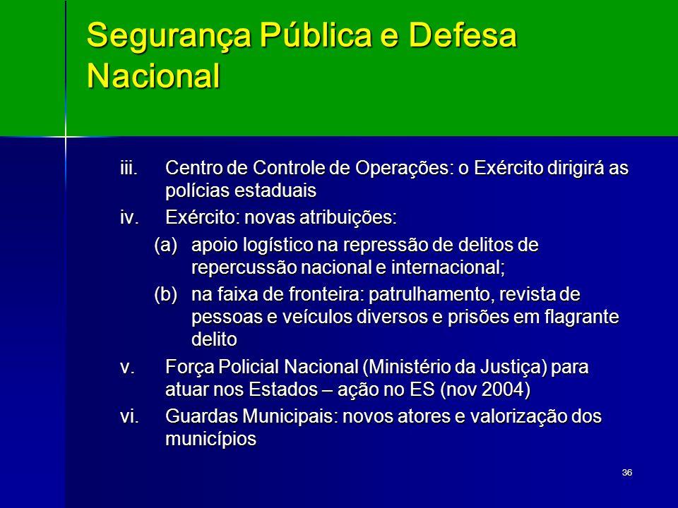 Segurança Pública e Defesa Nacional