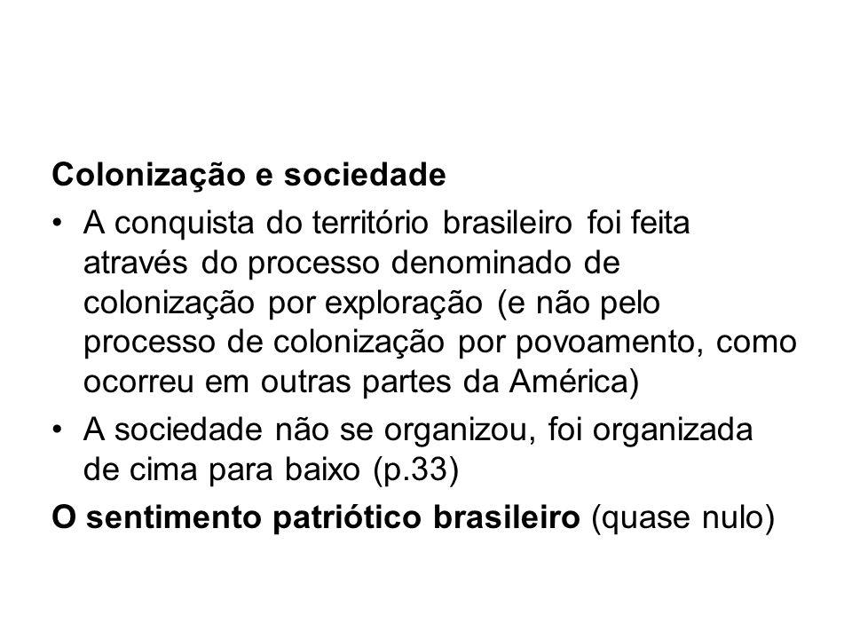 Colonização e sociedade