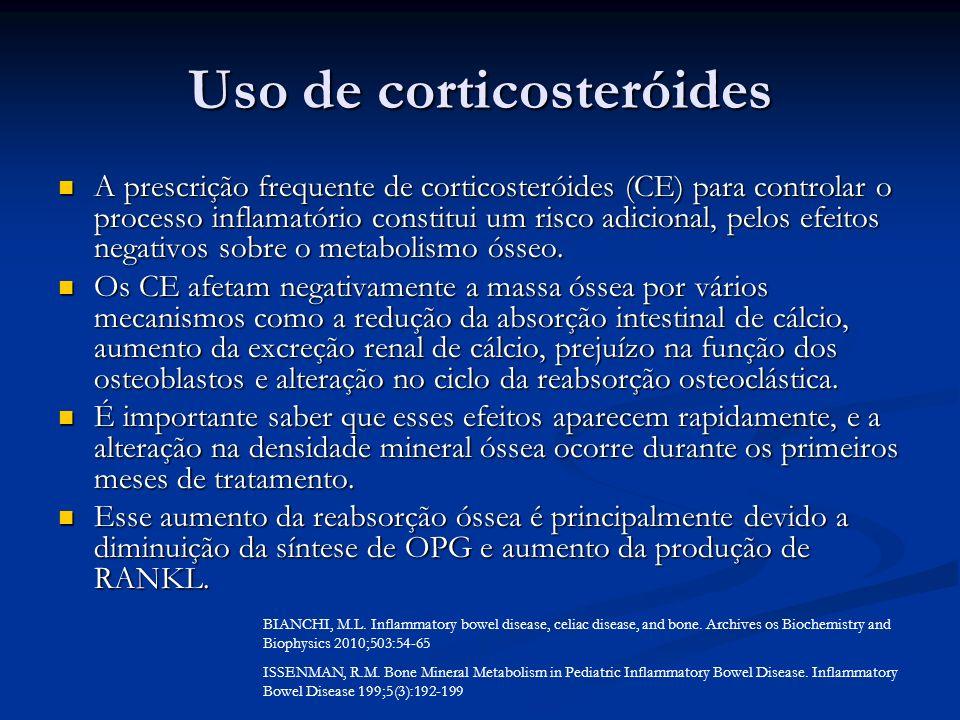 Uso de corticosteróides
