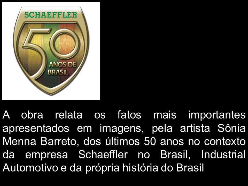 A obra relata os fatos mais importantes apresentados em imagens, pela artista Sônia Menna Barreto, dos últimos 50 anos no contexto da empresa Schaeffler no Brasil, Industrial Automotivo e da própria história do Brasil