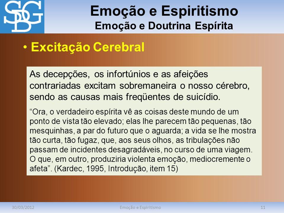 Emoção e Espiritismo Emoção e Doutrina Espírita