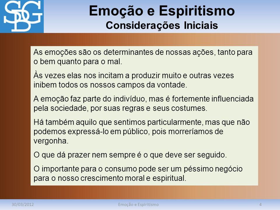 Emoção e Espiritismo Considerações Iniciais