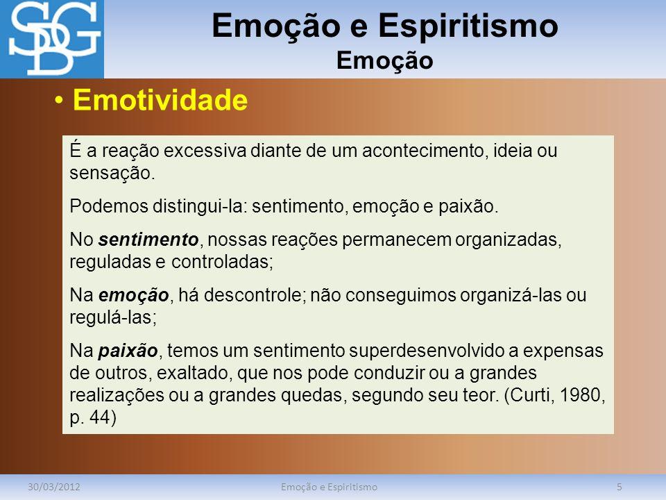 Emoção e Espiritismo Emoção