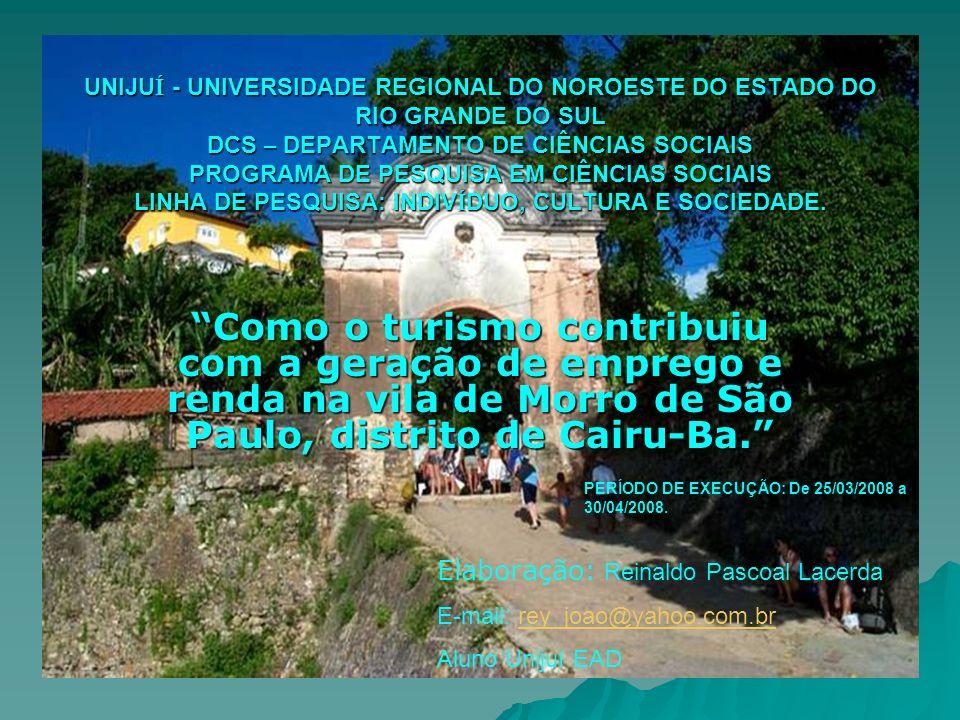 UNIJUÍ - UNIVERSIDADE REGIONAL DO NOROESTE DO ESTADO DO RIO GRANDE DO SUL DCS – DEPARTAMENTO DE CIÊNCIAS SOCIAIS PROGRAMA DE PESQUISA EM CIÊNCIAS SOCIAIS LINHA DE PESQUISA: INDIVÍDUO, CULTURA E SOCIEDADE.