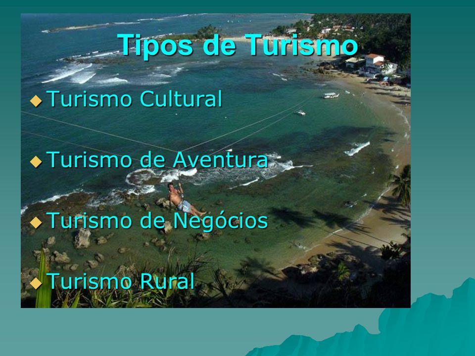 Tipos de Turismo Turismo Cultural Turismo de Aventura