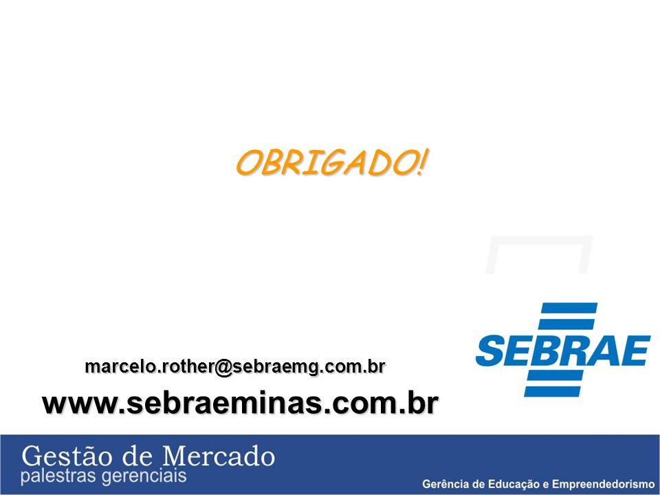 OBRIGADO! marcelo.rother@sebraemg.com.br www.sebraeminas.com.br