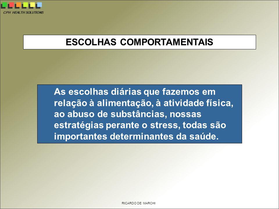 ESCOLHAS COMPORTAMENTAIS