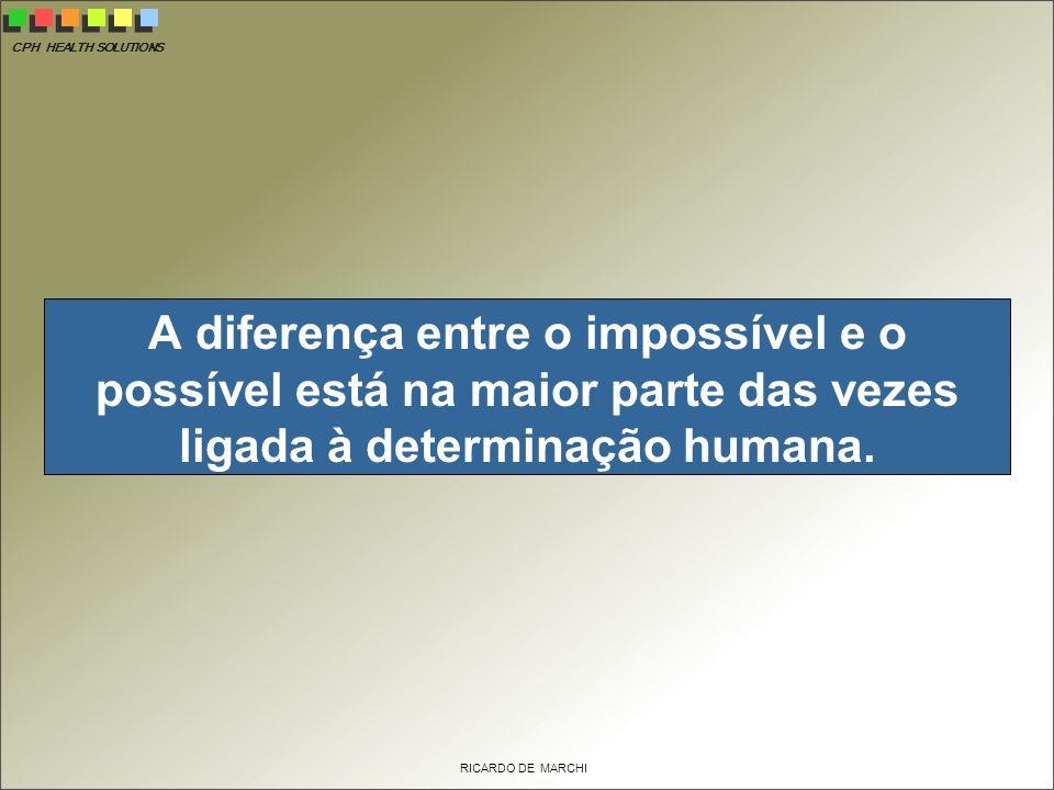 A diferença entre o impossível e o possível está na maior parte das vezes ligada à determinação humana.
