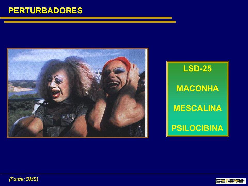 PERTURBADORES LSD-25 MACONHA MESCALINA PSILOCIBINA