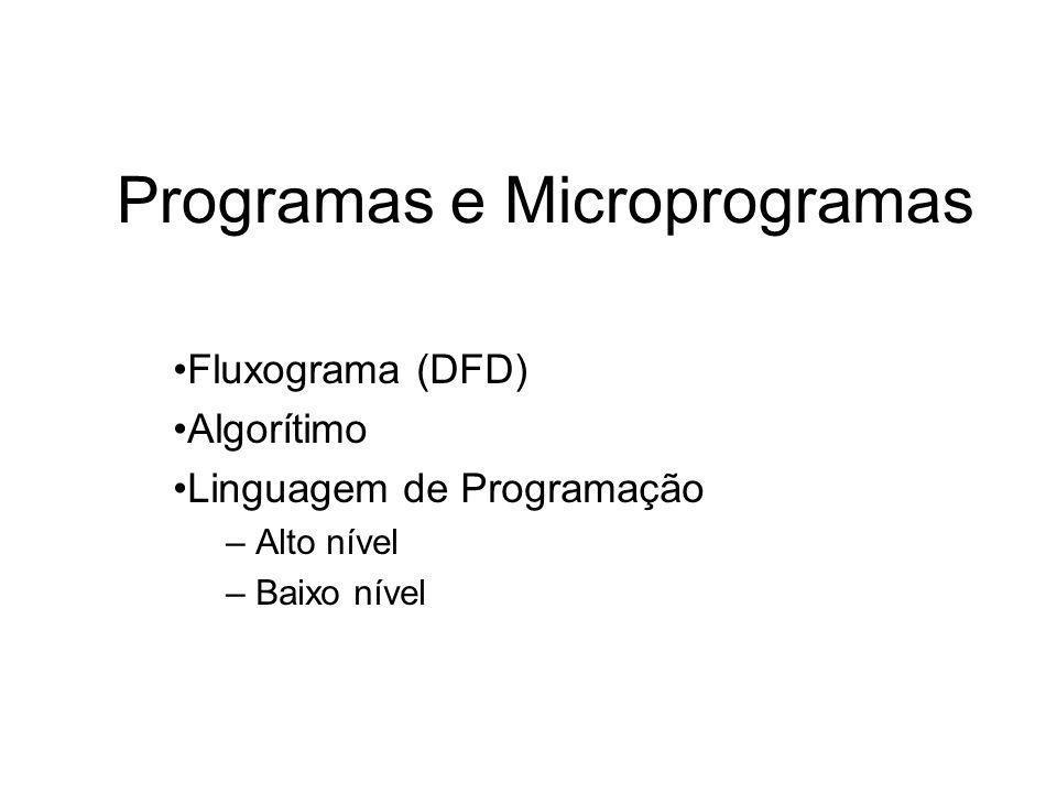 Programas e Microprogramas