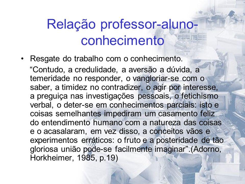 Relação professor-aluno-conhecimento