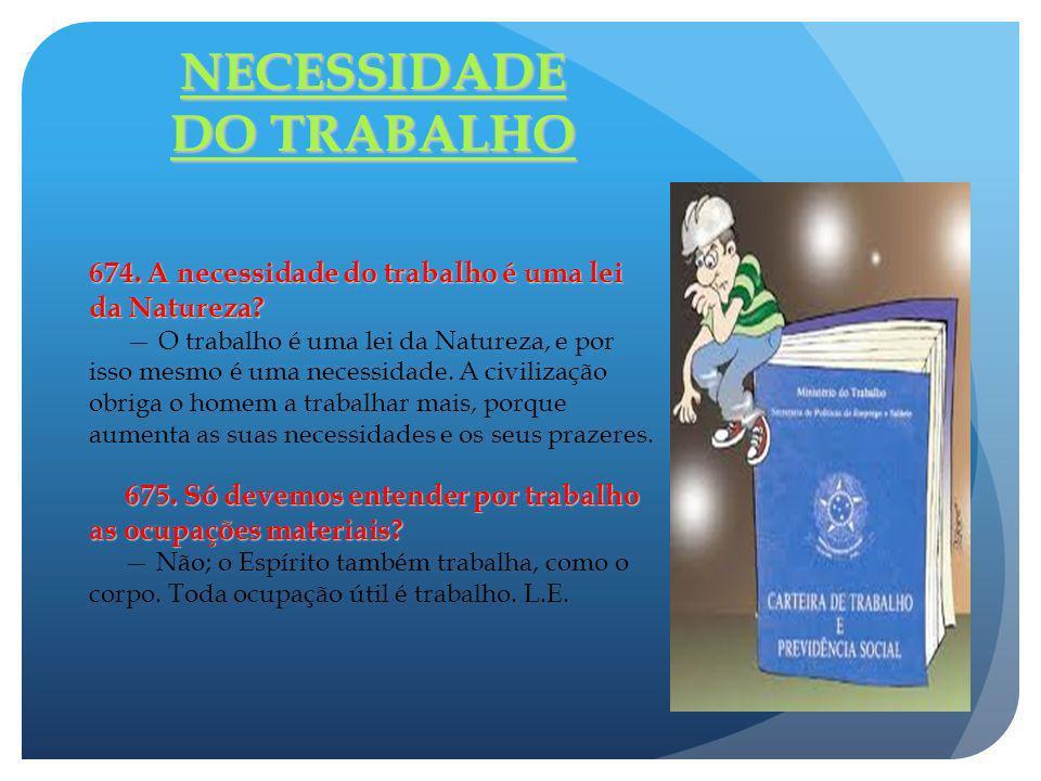 NECESSIDADE DO TRABALHO
