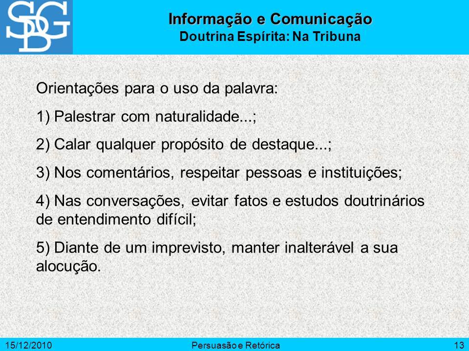 Informação e Comunicação Doutrina Espírita: Na Tribuna