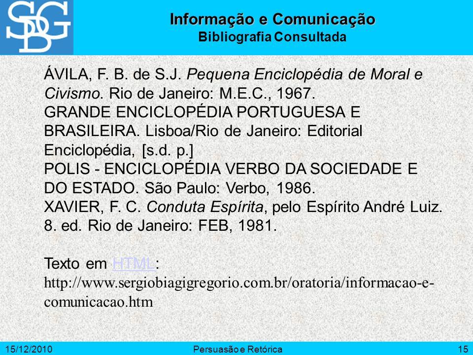 Informação e Comunicação Bibliografia Consultada