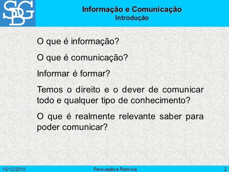 Informação e Comunicação