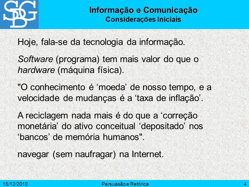 Informação e Comunicação Considerações Iniciais