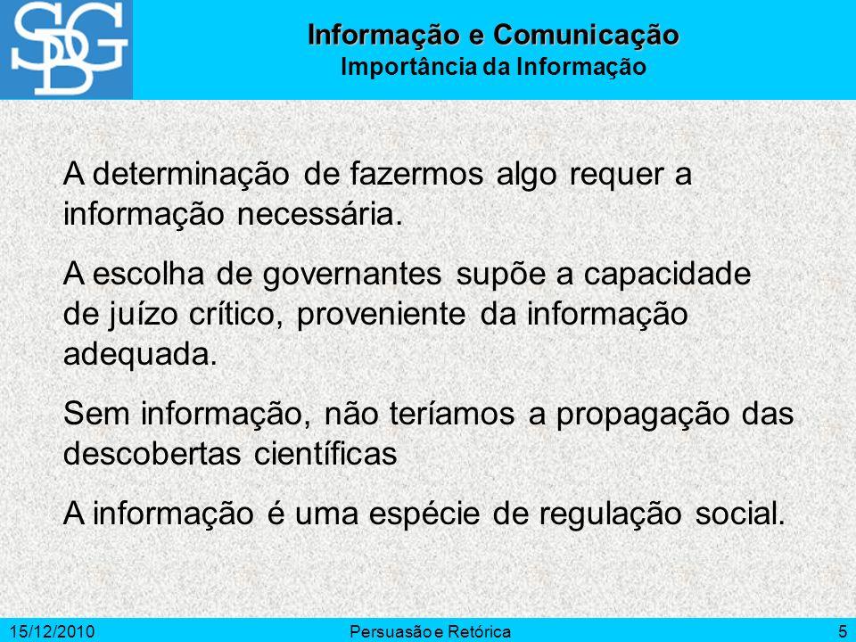 Informação e Comunicação Importância da Informação