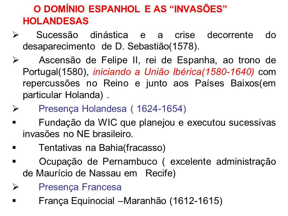 O DOMÍNIO ESPANHOL E AS INVASÕES HOLANDESAS