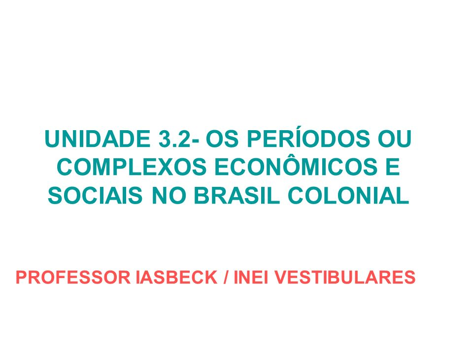 PROFESSOR IASBECK / INEI VESTIBULARES