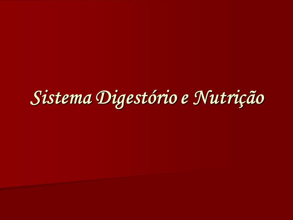 Sistema Digestório e Nutrição