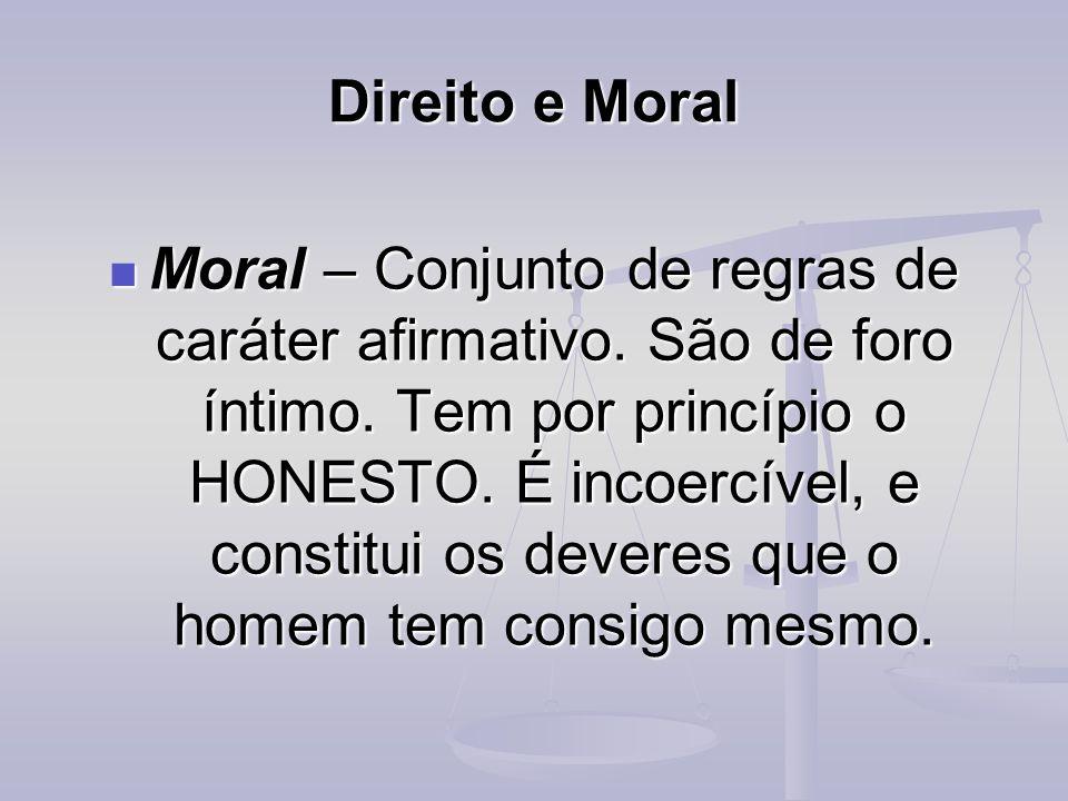 Direito e Moral