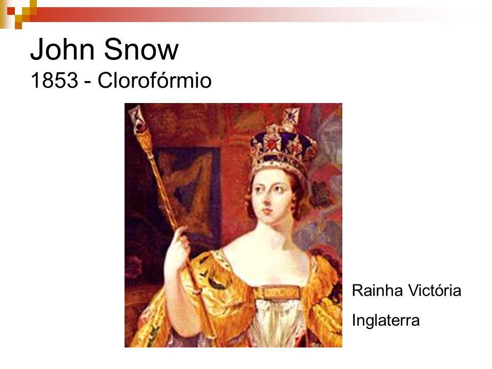 John Snow 1853 - Clorofórmio