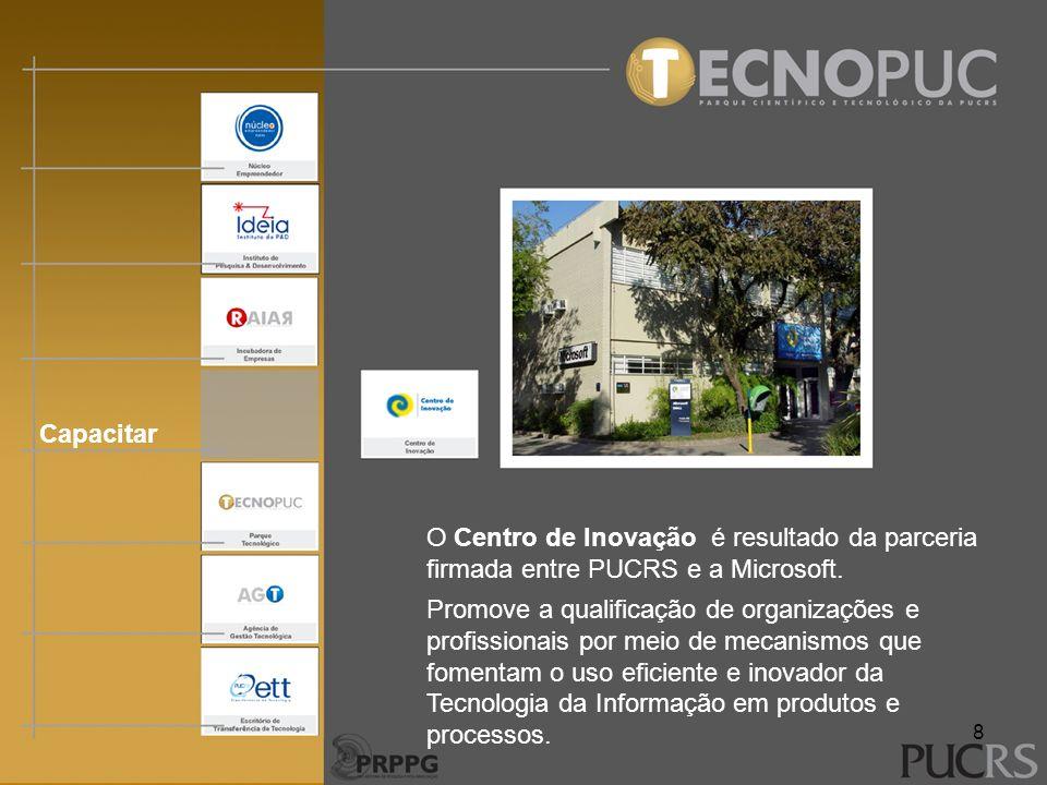 Capacitar O Centro de Inovação é resultado da parceria firmada entre PUCRS e a Microsoft.