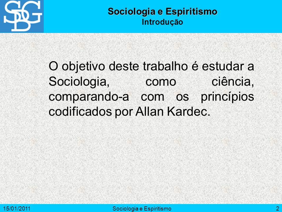 Sociologia e Espiritismo