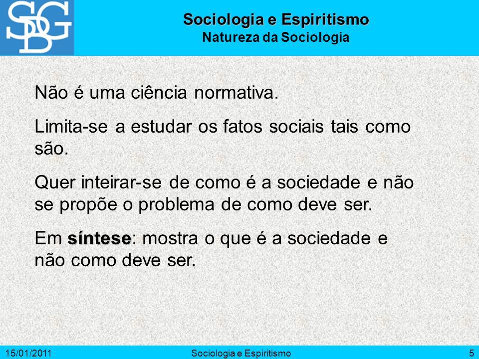 Sociologia e Espiritismo Natureza da Sociologia