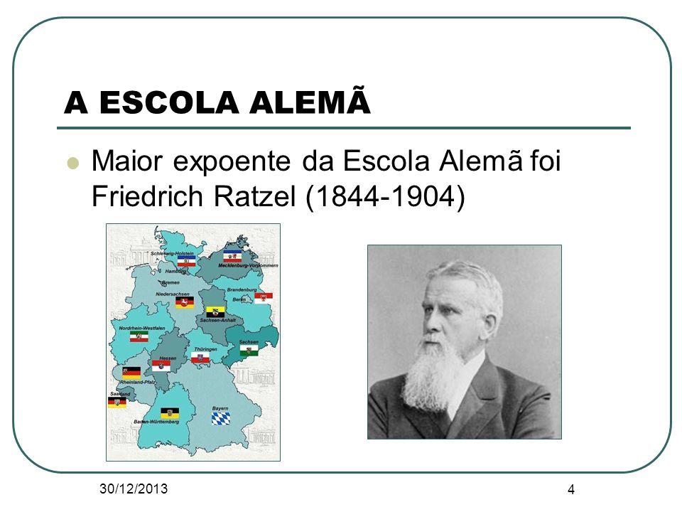 A ESCOLA ALEMÃ Maior expoente da Escola Alemã foi Friedrich Ratzel (1844-1904) 24/03/2017