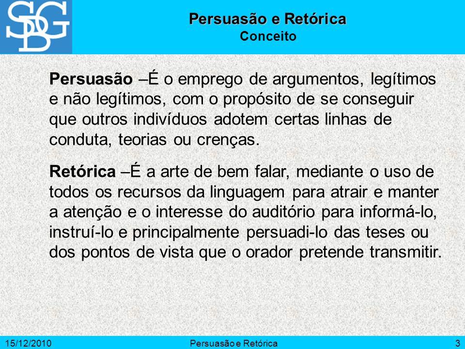 Persuasão e Retórica Conceito.