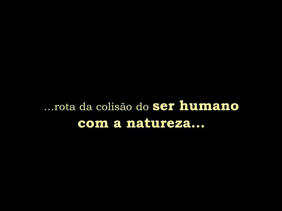...rota da colisão do ser humano com a natureza...