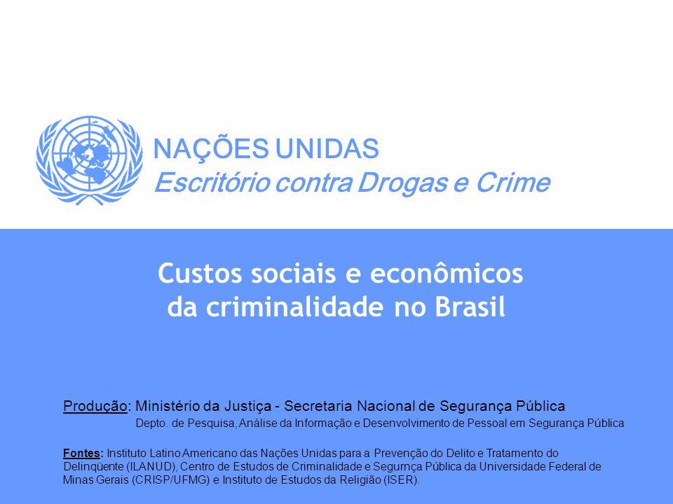 Custos sociais e econômicos da criminalidade no Brasil