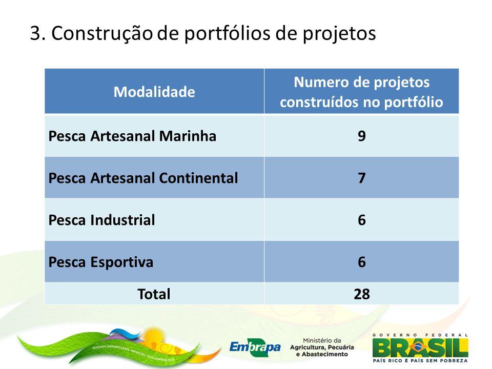 3. Construção de portfólios de projetos