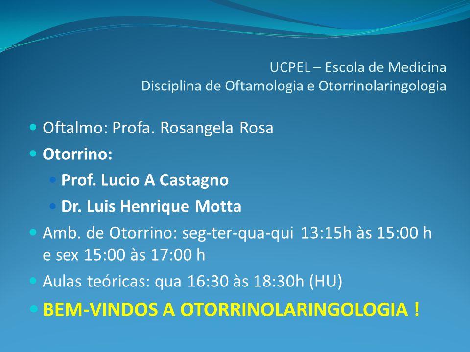 UCPEL – Escola de Medicina Disciplina de Oftamologia e Otorrinolaringologia
